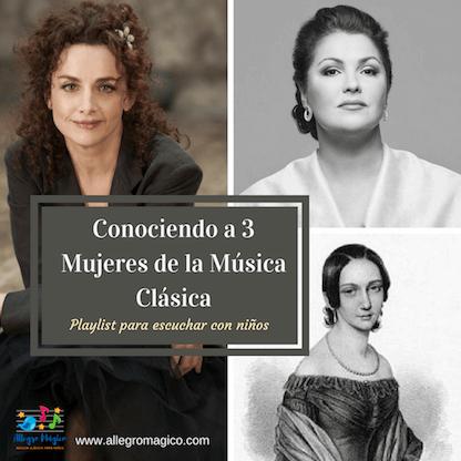 Conociendo a 3 mujeres de la música clásica.