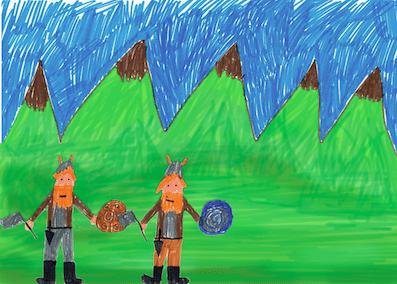 Jugando a los vikingos.