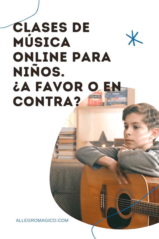 Clases de música online para niños.