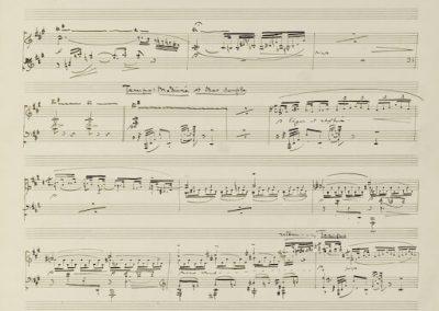Debussy - Partitura a mano de L'Isle joyeuse