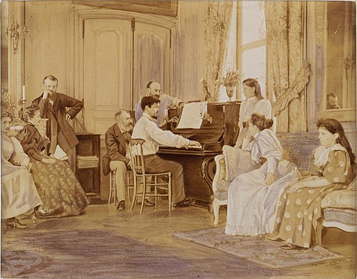 Debussy al piano.