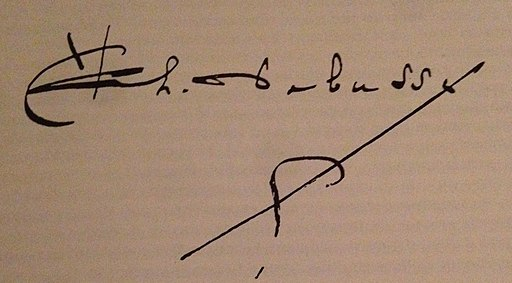 Firma Claude Debussy