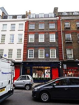 Casa de Händel en Brook Street Londres.
