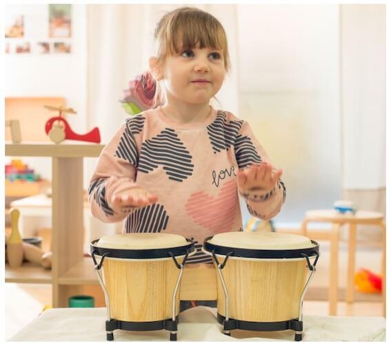 espacio musical en casa - bongos instrumentos musicales