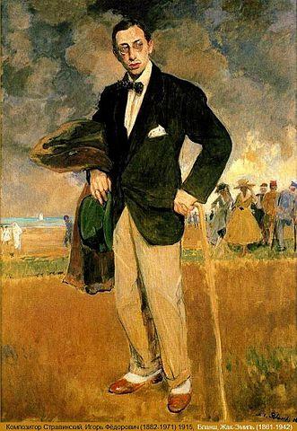 Stravinsky por Blanche en 1915
