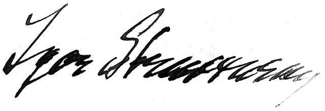 Firma Igor Stravinsky