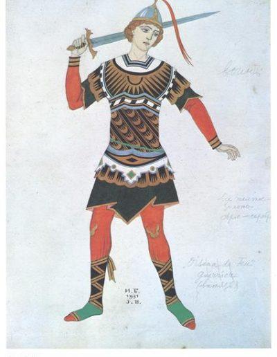 Diseño traje del Príncipe Iván por Ivan Bilibin.