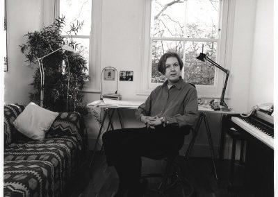 Judith Weir en su estudio.