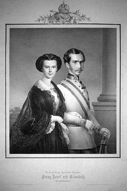 Emperador Francisco José I y la Emperatriz Elisabeth