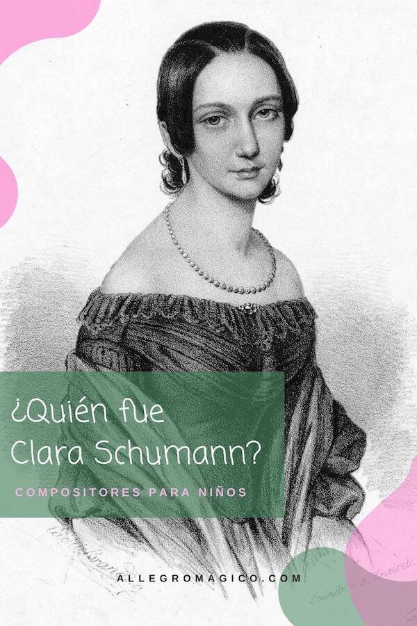 Biografía corta para niños de Clara Schumann.