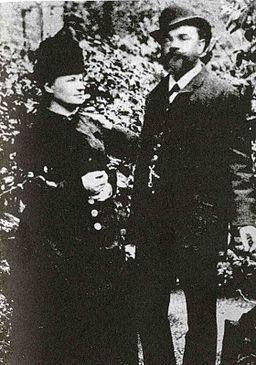 Antonín y Anna en Londres 1886