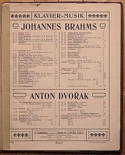 Editor Simrock de Brahms y Dvorák