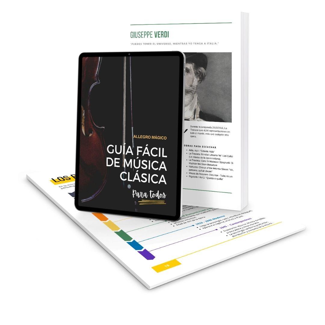 Guía para aprender fácil sobre música clásica.